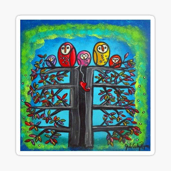The Owl Family II Sticker