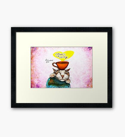 What my #Coffee says to me May 21, 2016 Framed Print