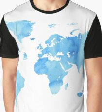 Sky World map Graphic T-Shirt