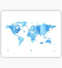 Sky World map Sticker
