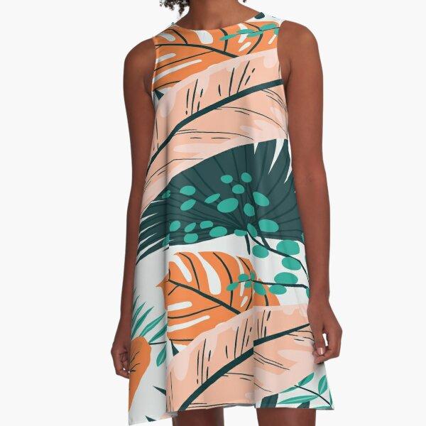 Hawai Style A-Linien Kleid