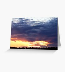 June Sunset Over Cedarville Bay Greeting Card