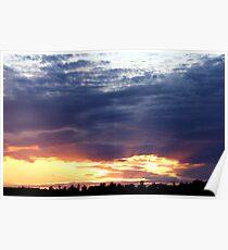 June Sunset Over Cedarville Bay Poster