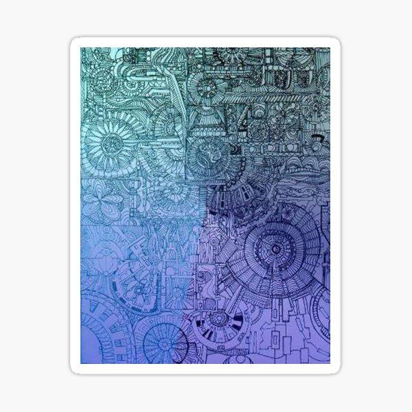 """""""tapestry of inner workings"""" Sticker"""