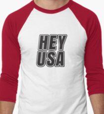 HEY USA Men's Baseball ¾ T-Shirt
