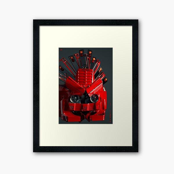 PETROLTRIBES ferrari 02 Framed Art Print