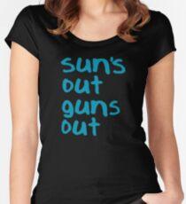 Sun's Out Guns Out - 22 Jump Street Women's Fitted Scoop T-Shirt
