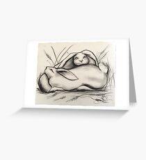 Sleeping Rabbits Greeting Card