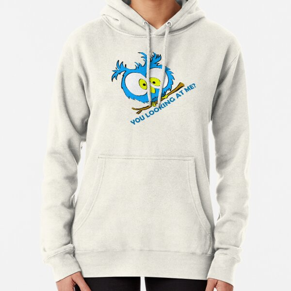 You looking at me? (Blue) Pullover Hoodie