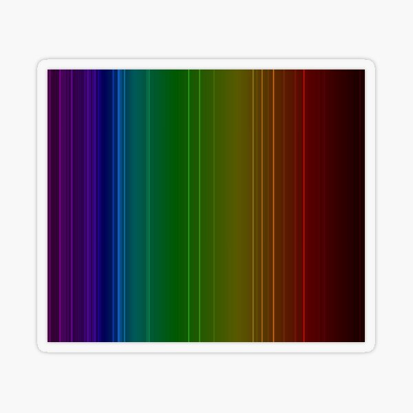 Emission spectrum of oxygen. When an electrical discharge is passed through a substance, its atoms and molecules absorb energy, which is reemitted as EM radiation Transparent Sticker
