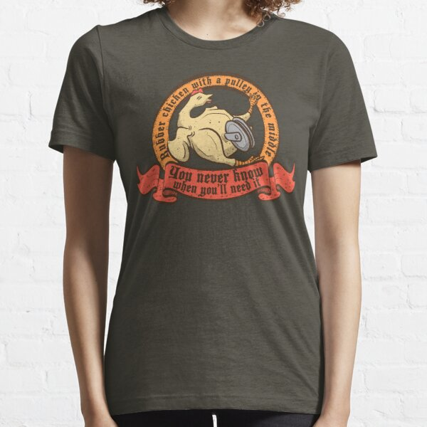 Rubber chicken with a pulley in the middle Essential T-Shirt