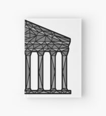 Geometric Pantheon in grey with black outline Hardcover Journal