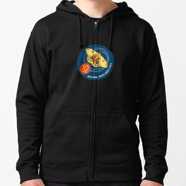 """National Moth Week"" National Moth Week Zipped Hoodie"