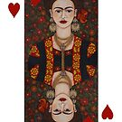 Frida Kahlo,  Queen of Hearts II by Madalena Lobao-Tello
