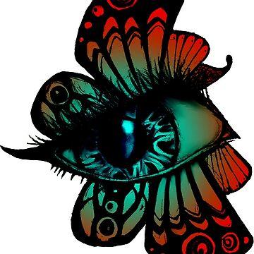 Colourful Butterfleye by fernigan