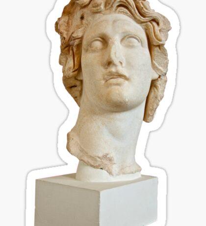 Vaporwave Statue Floral 420 Sticker