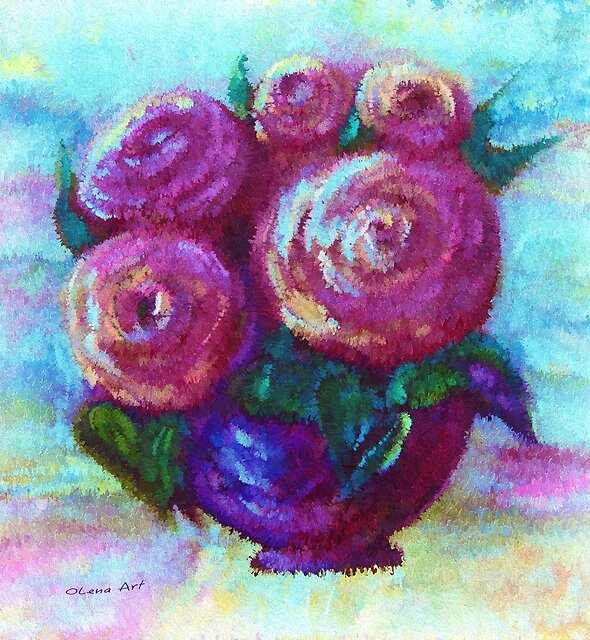 Abstract Bouquet by OLena Art - brand
