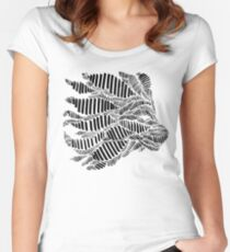 Stripes and Lion Head Women's Fitted Scoop T-Shirt