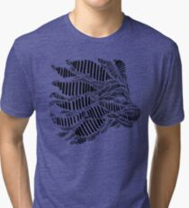Stripes and Lion Head Tri-blend T-Shirt