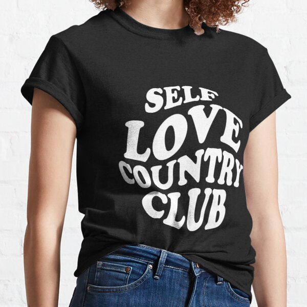 SELF LOVE COUNTRY CLUB — ROUND LOGO Classic T-Shirt