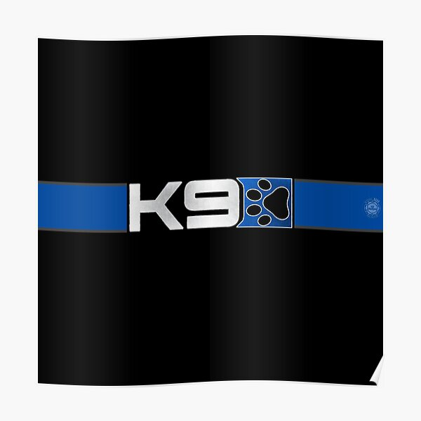 Bark Effect: Blue K9 Strip (Type 3) Poster