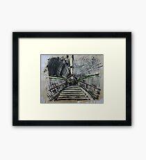 London Underground Urban Cityscape Subway Station Contemporary Acrylic Painting Framed Print