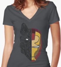 Game Of Thrones / Iron Man: Stark Family Women's Fitted V-Neck T-Shirt