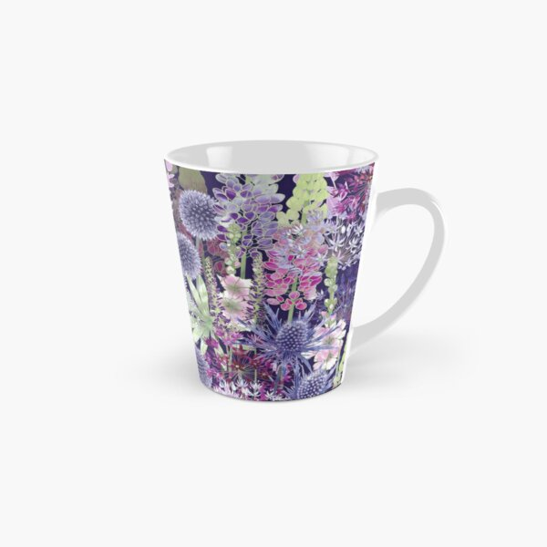Flower Meadow - Echinops, Lupins, Sea Holly, Alliums, Sidalcea Tall Mug