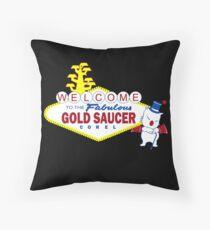 Fabulous Gold Saucer Alternate Throw Pillow
