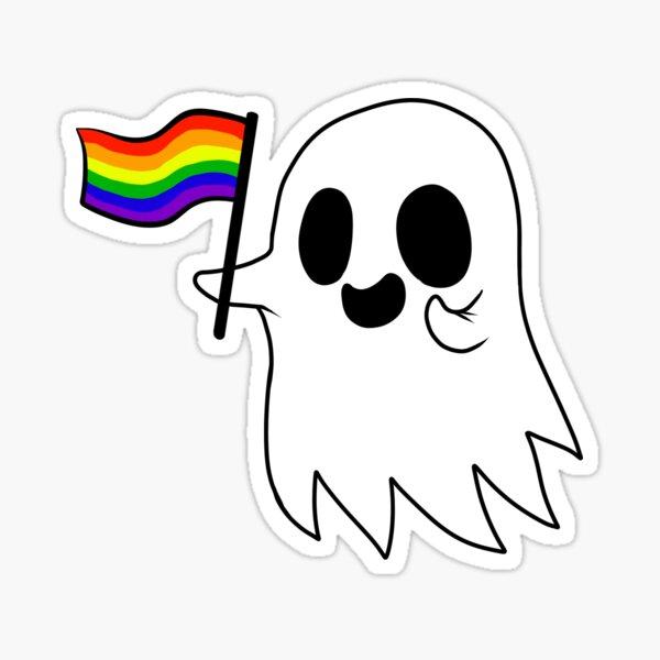 Gay Pride Ghost Sticker