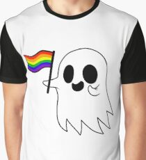 Gay Pride Geist Grafik T-Shirt