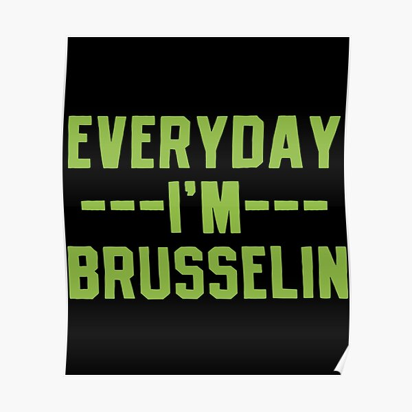 Brussels Sprouts Vegetable Vegetarian Poster