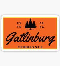 GATLINBURG TENNESSEE MOUNTAIN GREAT SMOKEY MOUNTAINS TYPOGRAPHY ORANGE Sticker