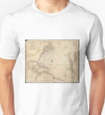 Vintage Map of The Atlantic Ocean (1683) Unisex T-Shirt
