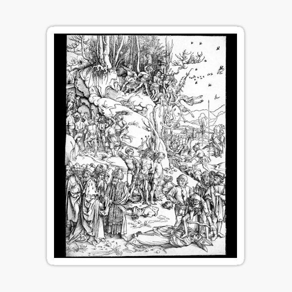 Albrecht Dürer Martyrdom of the Ten Thousand Sticker