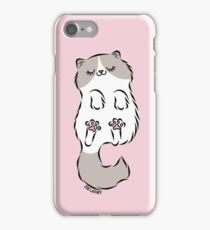 Fluffy Cat Sleeping iPhone Case/Skin