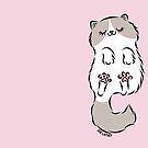 Fluffy Cat Sleeping by Zoe Lathey