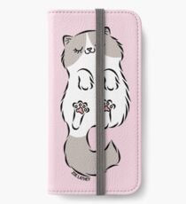 Fluffy Cat Sleeping iPhone Wallet/Case/Skin