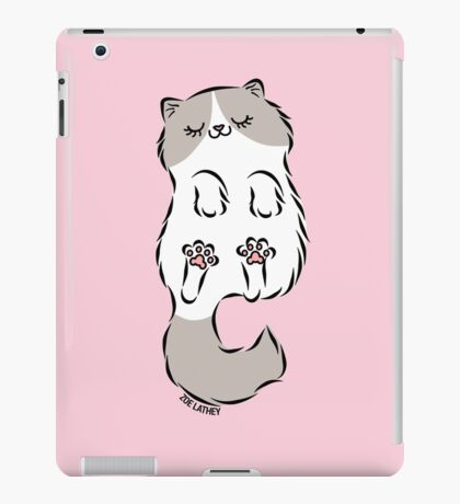 Fluffy Cat Sleeping iPad Case/Skin