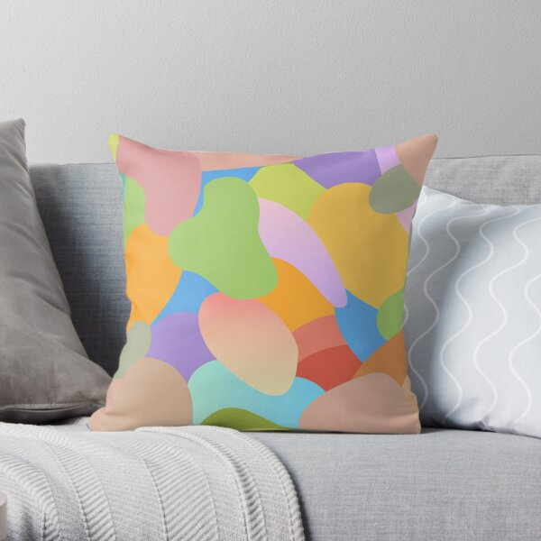 Pastel Abstract Two Throw Pillow