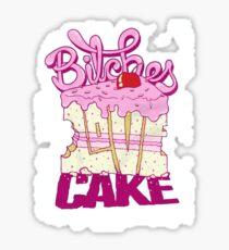 Bitches Love Cake Sticker