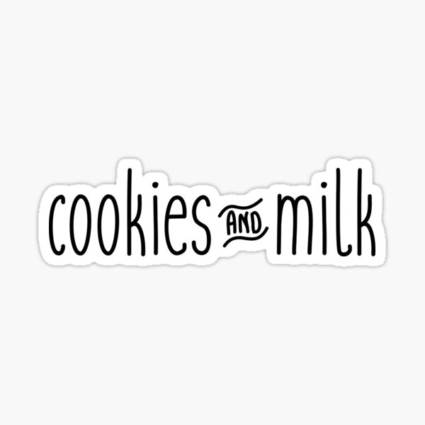 Cookies and milk Sticker