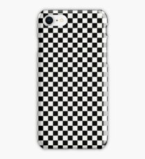 Lace Cap White and Black Classic Checkerboard Repeating Pattern iPhone Case/Skin