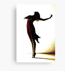 Poise in Silhouette Canvas Print