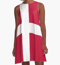 Denmark- Danish Flag A-Line Dress