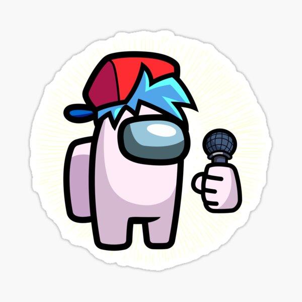 Among Us personajes con sombrero y micrófono, Among Us personajes de colores, Among Us impostor Pegatina