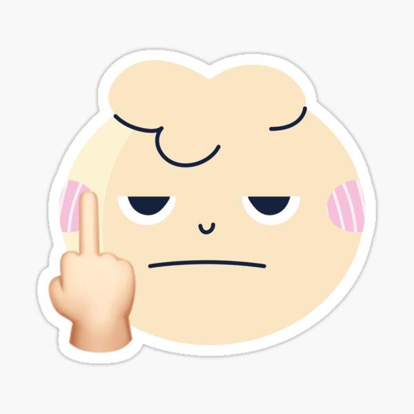Beige / rose clair Fuck You Emoji Sticker