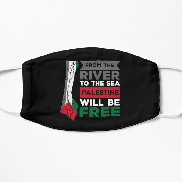 De la rivière à la mer, la Palestine sera libre Masque sans plis