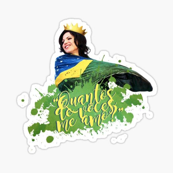 Lana Parrilla in Brasil Sticker