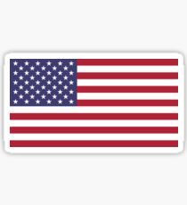 """The national flag of the United States of America -  Authentic 10:19 """"G-spec"""" (for """"government specification"""" ) Scale and colors Sticker"""